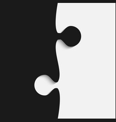 grey and black piece puzzle jigsaw vector image