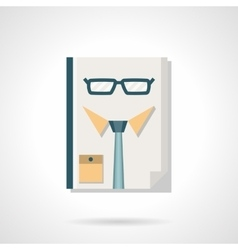 HR manager abstract flat color icon vector image