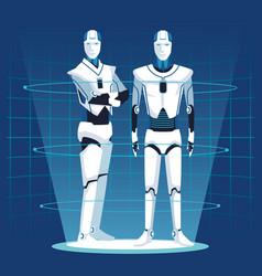 Humanoid robot avatar vector