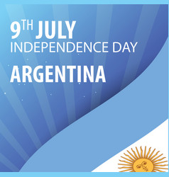 Independence day of argentina flag and patriotic vector