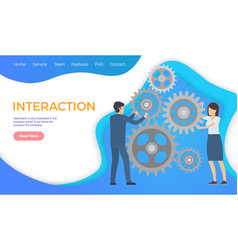 interactive team building importance in business vector image
