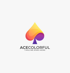 Logo ace gradient colorful style vector