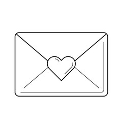 love letter line icon vector image