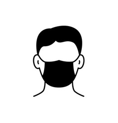 man in protective mask icon on white background vector image