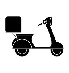 motorcycle scooter delivery food pictogram vector image