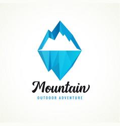 mountain outdoor adventure logo rock vector image
