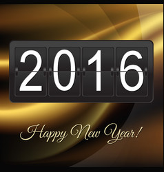 New years card with black counter vector
