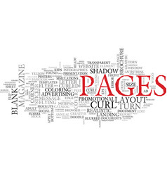 Page word cloud concept vector