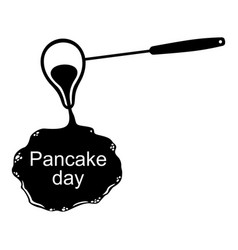 Pancake day icon vector