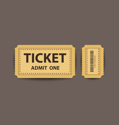 Paper stub ticket with two parts vector