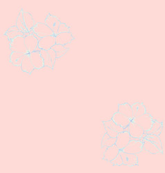 pattern of pastel blue hand vector image