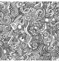 Photography doodles cartoon seamless pattern vector