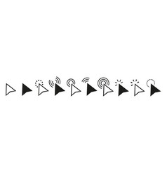 Pointers mouse cursors computer clicking icons vector