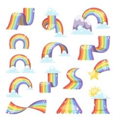 Rainbow set vector