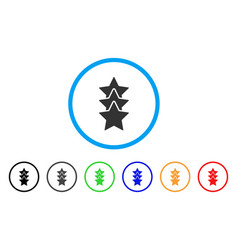 rating stars rounded icon vector image