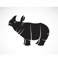 rhinoceros on a white background wild animals vector image