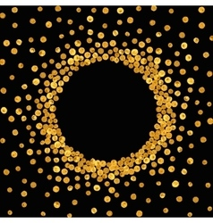 Round gold frame or border vector image