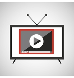screen tv movie video player vector image