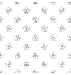 season flower pattern seamless vector image