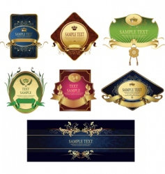 Set of classic labels vector