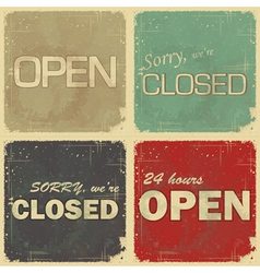 Set signs open - closed vector