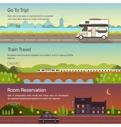 set travelling vector image