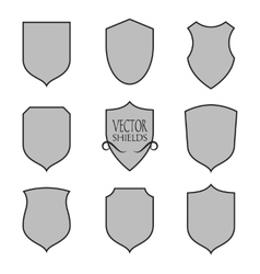 shield silhouette for graphic design vector image