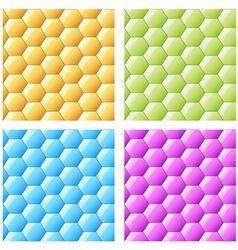 Shiny seamless hexagons vector