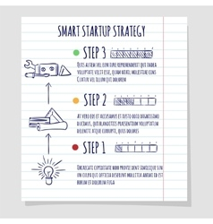 Startup concept design sketch vector