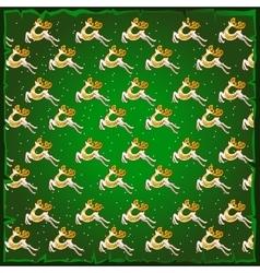 Texture of deer green background vector