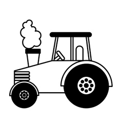 tractor farm vehicle icon vector image