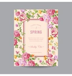 Vintage Floral Frame - for Invitation Wedding vector image