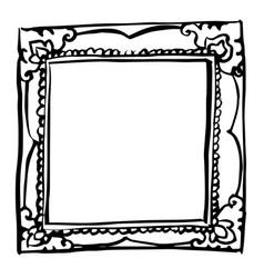 Vintage frame doodle hand drawn vector