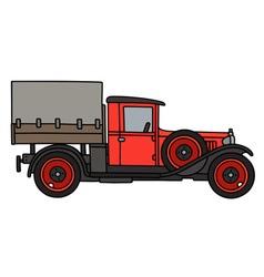 Vintage red truck vector image