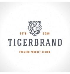 Vintage Tiger Logotype or mascot emblem vector
