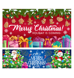 winter holiday christmas and new year vector image