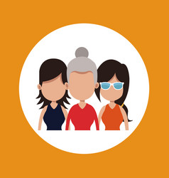 Women group different age vector