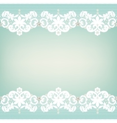 White lace edgings vector image