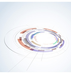 Abstract circle stage design element vector image vector image