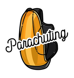 color vintage parachuting emblem vector image