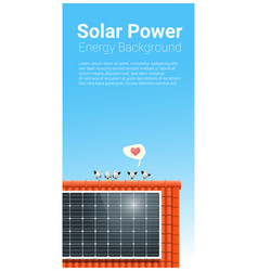 energy concept background with solar panel 6 vector image