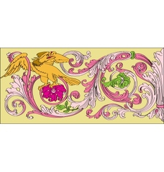 floral Baroque style vector image