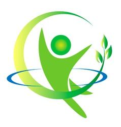 Health nature men logo vector image vector image
