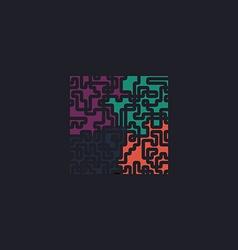 Labyrinth computer symbol vector