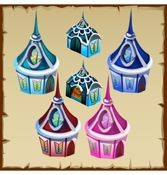 Miniature houses as decor item for other needs vector image
