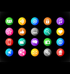 social media and website buttons vector image