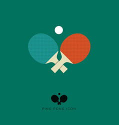 table tennis flat icon ping pong icon vector image