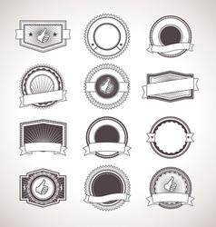 Vintage badges Retro Labels vector image vector image