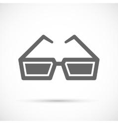 Cinema glasses icon vector image vector image