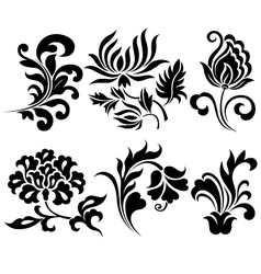 flower element set vector image